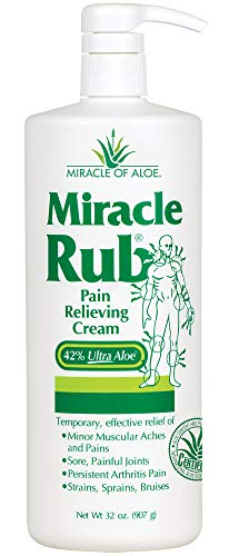 Miracle Rub Pain Relieving Cream with 42% Aloe,32 OZ tube