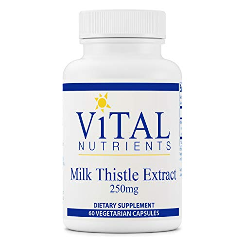 Vital Nutrients - Milk Thistle Extract - Supports Healthy Liver Function and Detoxification - 60 Vegetarian Capsules per Bottle - 250 mg