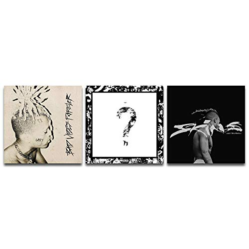 Rapper Poster Skins Album Cover Poster Xxxtentacion Canvas Art Poster and Wall Art Picture Print Modern Family Bedroom Decor Posters