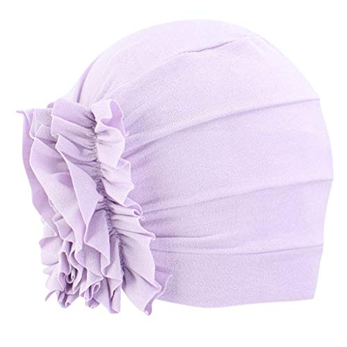 Sale!! KCPer Women Muslim Solid Flowers Cancer Chemo Hat Fashion Turban Headbands Hair Loss Wrap Cap