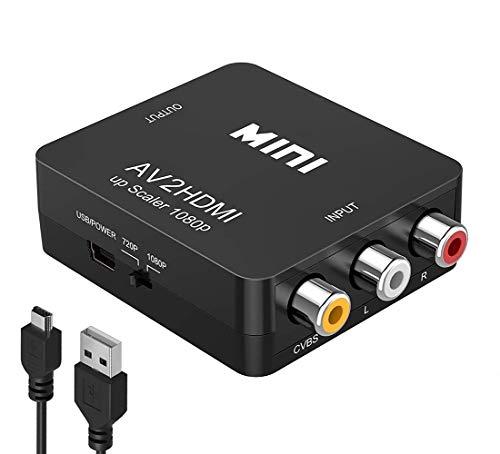 RCA to HDMI Converter, Amtake 1080P RCA Composite CVBS AV to HDMI...