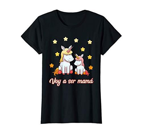 Mujer Voy A Ser Mamá Madre Embarazo Camiseta