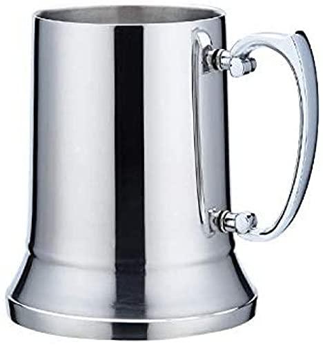 Taza De Cerveza De Doble Capa De Acero Inoxidable, Espejo, Copa De Cóctel, Copas De Vino, Acero Inoxidable, Cobre, Anticaída-560ml