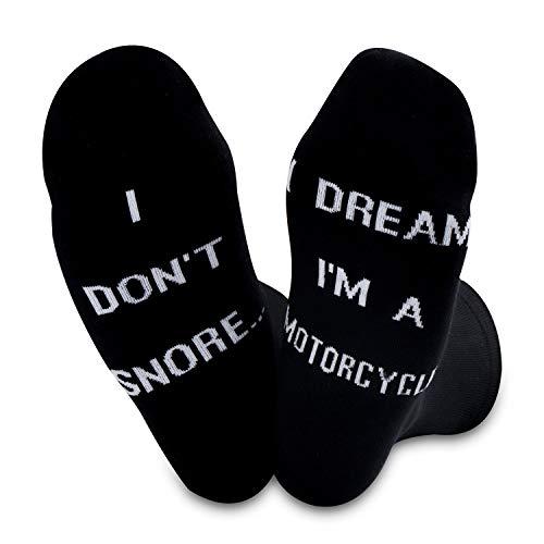 TSOTMO I Don't Snore I Dream I'm A Motorcycle Socks (Motorcycle Socks)