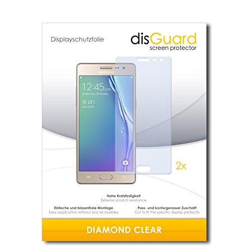 disGuard 2 x Bildschirmschutzfolie Samsung Z3 Schutzfolie Folie DiamondClear unsichtbar