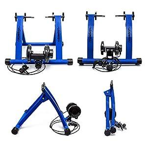 Relaxdays 10018322 - Bicicleta estática, convierte bicicleta común a estática, color azul, talla 54 x 46 x 20 cm