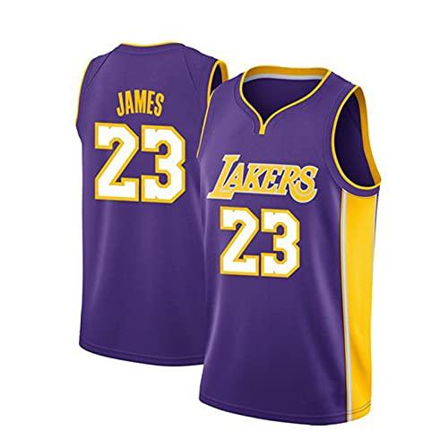 AKEFG No. 23, Lakers James 23# Pantalones Cortos de Camiseta de Uniforme de Baloncesto, Traje de Camiseta de Uniforme de Entrenamiento