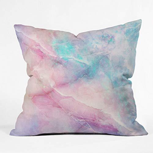 Society6 68753-othrp16 Emanuela Carratoni Iridescent Marble Indoor Throw Pillow, 16'x16', Multi