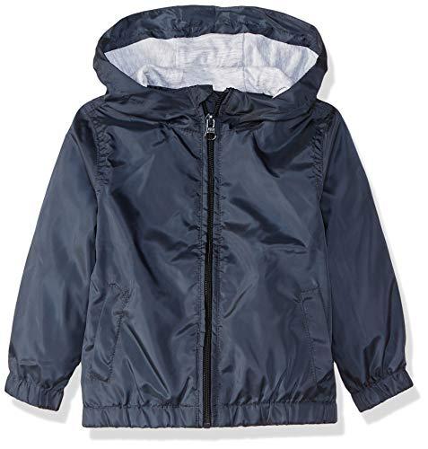 NAME IT jongens regenjas windjas met capuchon NKMMix donkerblauw