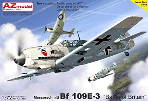 AZmodel 1/72 ドイツ空軍 メッサーシュミット Bf109E-3 バトル・オブ・ブリテン プラモデル AZM7658