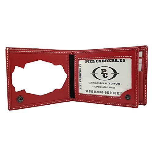Portafoglio porta targa per polizia nazionale spagnola (CNP) mod. Honores, rosso, Taglia unica,