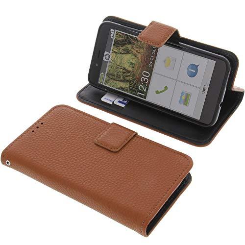 foto-kontor Tasche für Emporia Smart 3 Mini Book Style braun Schutz Hülle Buch