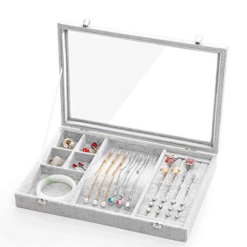 POLX - Caja de exhibición de Joyas, Accesorio Decorativo, Soporte para Collares, Color Negro