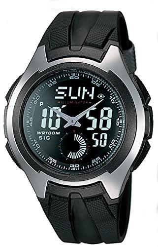 Casio Men's AQ160W-1BV 'Ana-Digi' Stainless Steel Watch with...
