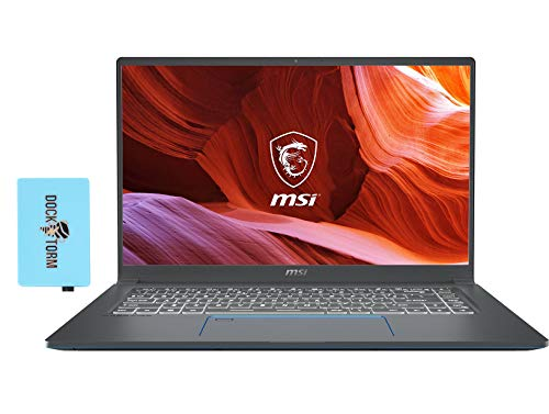 MSI Prestige 15 Gaming and Entertainment Laptop (Intel i7-1185G7 4-Core, 16GB RAM, 512GB SSD, GTX 1650 [Max-Q], 15.6' Full HD (1920x1080), Fingerprint, WiFi, Bluetooth, Win 10 Home) with Hub