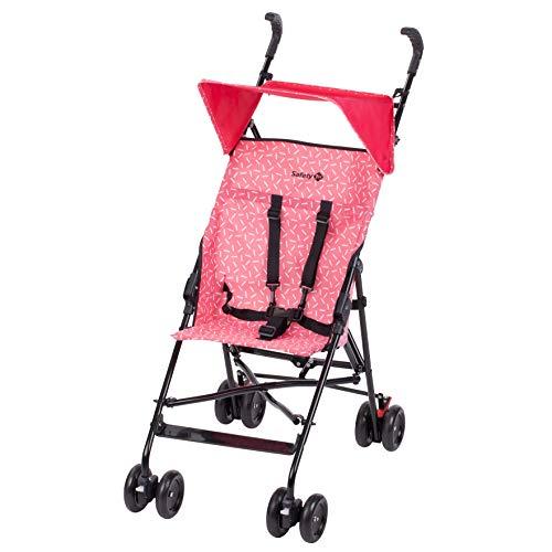Safety 1st Peps Buggy mit Sonnenverdeck, wendiger Kinderwagen nutzbar ab 6 Monate bis max. 15 kg, kompakt zusammenfaltbar, mit Feststellbremse und 5-Punkt-Gurt, wiegt nur 4,5 kg, Super Pink