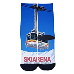 Fully customized with 99% print coverage on entire sock. Crew Socks: 80% Polyester. 12% Cotton. 8% Spandex. Custom design. Custom designed EveninSky socks with reinforced toe and heel for extra comfort and support. Suit for men's sandals, casual, ath...
