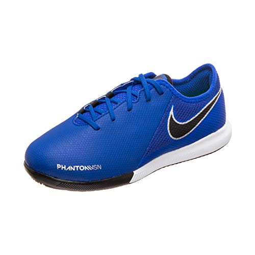 NIKE JR Phantom VSN Academy IC Größe 34 Racer Blue/Black-METALLIC SILV