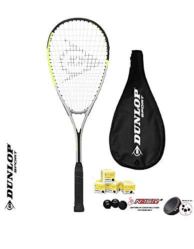 Dunlop Ti Series Squashschläger (Verschiedene Optionen) (1 x Squashschläger + 3 Squashbälle Hyper Lite Ti)