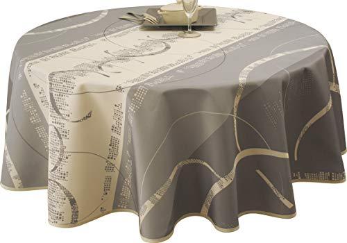 Le linge de Jules Nappe Anti-Taches Astrid Ecru - Taille : Ronde diamètre 160 cm