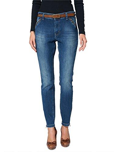 MAC Jeans Dream Skinny Zip Authentic mid Blue Dirty Used Damen D637 W34 L32