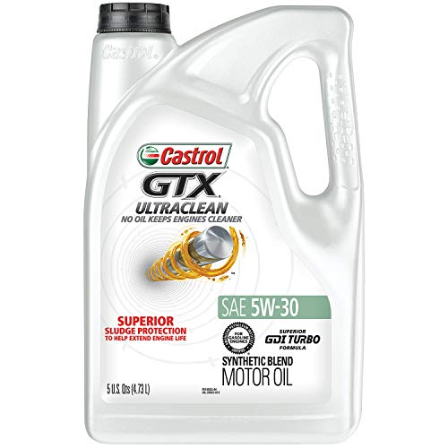 Castrol 03096 GTX ULTRACLEAN 5W-30 Motor Oil, 5 Quart