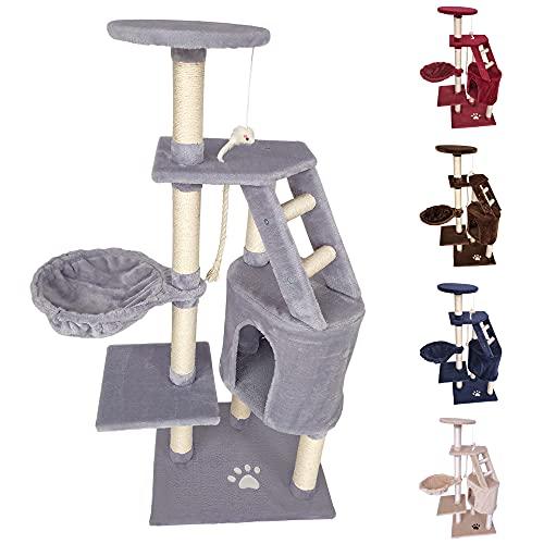 tiragraffi per gatti adulti 170cm Beltom TIRAGRAFFI per Gatto 120 CM Gioco Parco Giochi Cuccia Gatti GRAFFIATOIO SISAL Albero CUCCE Tira GRAFFIO Palestra - Grigio