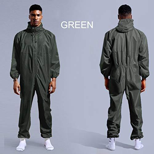Wasserdichte Arbeitskleidung Regenschutz-Arbeitskleidung mit Kapuze Staubdichte Farbe Spray Unisex Regenmantel Arbeitskleidung Sicherheitsanzug L.
