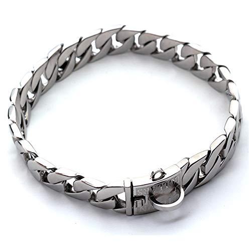 Guai Metall Hundekette Edelstahl Haustier Leine Haustier Halsband Show Halsband Bully Hunde Dobermann einstellbare Sicherheit