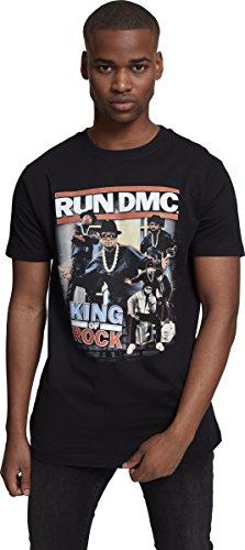 Mister Tee Herren Run DMC King of Rock Tee T-Shirt, Black, M