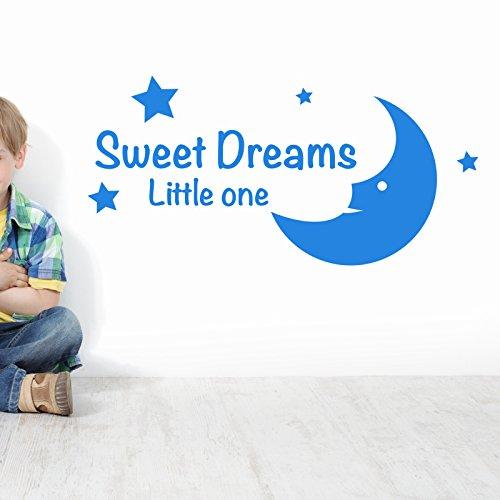 THE VINYL BIZ SWWET DREAMS LITTLE ONE KIDS NURSERY WALL STICKER. Words/QuotesStickers muraux/stickers muraux de mur/transferts / stickers muraux