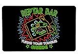 Nurdtyme Reptar Bar Neon Logo2 Large Mouse Pad Pop Culture Inspired 10' x 16' x 1/8 Desk Mat