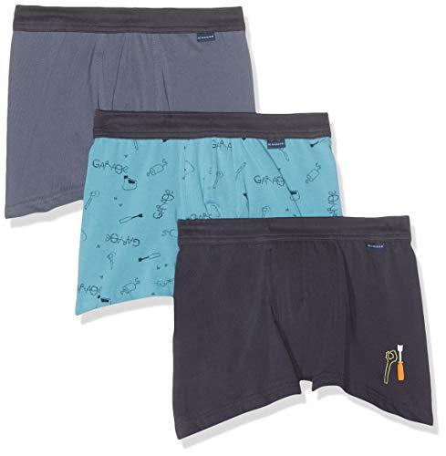 Schiesser Jungen Multipack 3pack Shorts_163413 Boxershorts, Mehrfarbig (Sortiert 1 901), 104 (3er Pack)