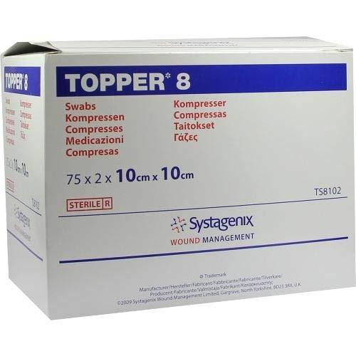 Topper 8 Kompressen 10x10 cm Steril, 75X2 St