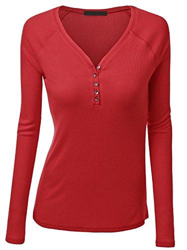 Women's Plus Henley Shirts