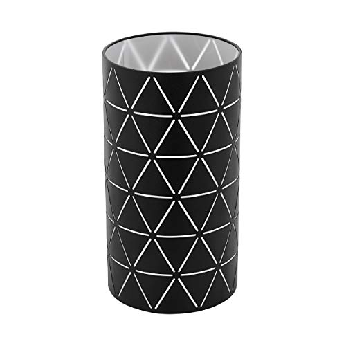 EGLO Tischlampe Ramon, 1 flammige Tischleuchte Modern, Nachttischlampe aus Stahl, Wohnzimmerlampe in schwarz, weiß , Lampe mit Schalter, E27 Fassung