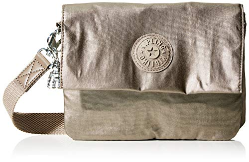 Kipling Osyka, Bolso Con Bandolera para Mujer, Marrón (Metallic Pewter Gift), 21x15x3.2 centimeters (B x H x T)