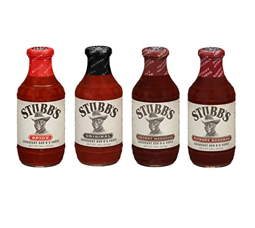 Stubbs BBQ Sauce Variety Pack, 18 Oz, Pack of 4, Gluten Free, No High Fructose Corn Syrup