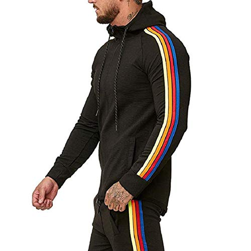 WANGW Sweatshirt Pullover Mit Kapuze - Herren - Plain Hoodie Top Jumper, Herren Fluffy Hoodie Casual Sweatshirt, Größe M Bis XL