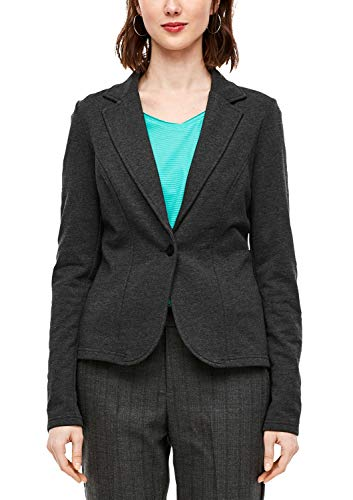 Q/S designed by - s.Oliver Damen Legerer Sweatblazer Black Melange XXL