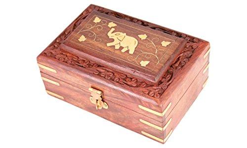 Design Cassapanca in legno elefante box espositore legno decorazione casa regalo