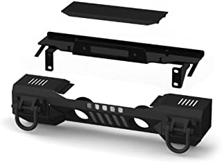 Rugged Ridge 11541.01 Aluminum Front XHD Bumper with Winch Plate For Select Jeep Wrangler JK Models