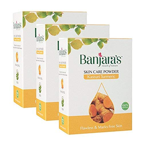 Banjara's Kasturi Turmeric Skin Care Powder - 300g (100g X Pack of 3)