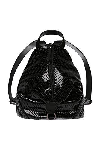 SOCCX Damen Mini-Rucksack aus perforiertem Kunstlackleder