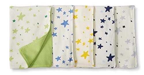 pour b/éb/és Moon and Back by Hanna Andersson Lot de 5 Serviettes anti-r/égurgitations r/éversibles en coton bio