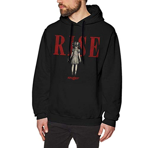 Henrnt Herren Kapuzenpullover Adult Skillet Band Men's Fashion Long Sleeve Sweatshirt Drawstring Pullover Hoodies