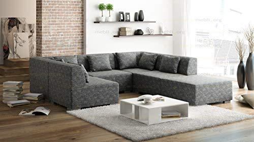 Wohnideebilder Couchgarnitur Model SUPERMAX 6 Teile, Modulsystem Sofa, EIN echter HINGUCKER