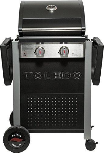 ACTIVA Grill Grillwagen Gasgrillwagen Toledo 200 Schwarz, 2 Brenner BBQ Barbeque