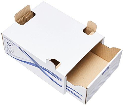 Bankers box lade-basic ring voor formaat A4, karton, blauw, 5 stuks