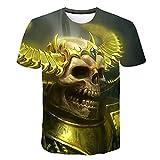 Camiseta de Calavera para niños, Camisetas Frescas Transpirables de Verano en 3D, Camiseta de Calavera para Hombre, diseñador de Mujer para Hombre XL